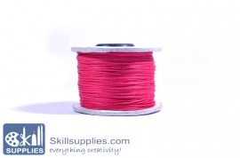 Cotton cord 0.5mm fuschia,10 mts images