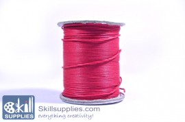 Cotton cord 1mm fuschia,10 mts images