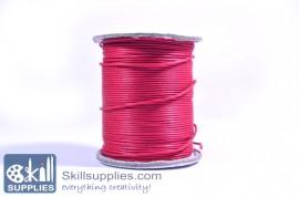 Cotton cord 1mm fuschia,10 mts