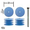 Flexible silicon discs