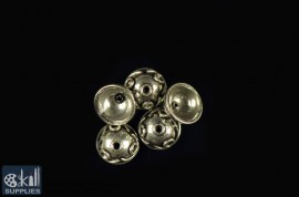 German Silver Bead Cap 7