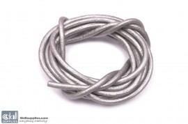 LeatherCord GreyMetallic1 images
