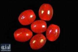 Oval glass beads albester 2