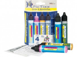 PicTixx Met.&Gli. pen 4 pc Set