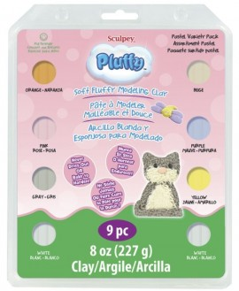 PolymerClay Kids Pluffy Multipack Pastel