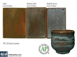 Pottery High Fire Glaze PC-33 Iron Lustre images