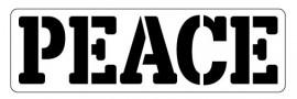 Words Stencil - Peace