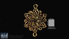 Antique gold finish flower