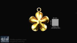 Antique gold finish Small flower images