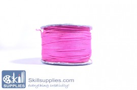 Cotton cord 0.5mm pink,10 mts