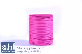 Cotton cord 1mm pink,10 mts
