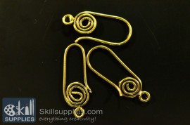Ear loops style 2 ER15  ,6 pcs   gold images