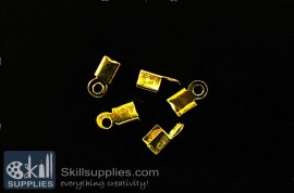 End crimps 3 mm  EN11 ,25 pcs   gold images