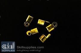 End crimps 3 mm  EN11 ,25 pcs   gold