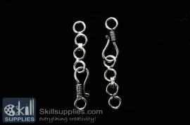 Hook chain 4 EN20 ,6 pcs  silver