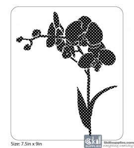Nature Stencil Orchids NA007 images