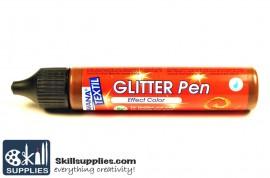 Textilepen Glitter Brown