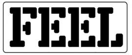 Words Stencil - Feel