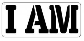 Words Stencil - I am
