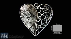 Antique finish Heart 1