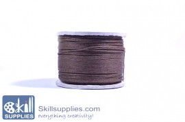 Cotton cord 0.5mm brown ,10 mts images