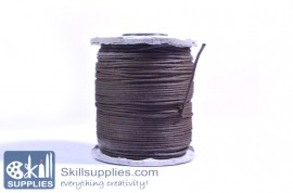 Cotton cord 1mm brown,10 mts