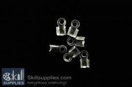 End crimps 3 mm  EN12 ,25 pcs   silver
