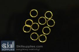 Jump rings 6mm  EN3,20 gms  gold
