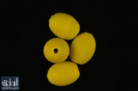 Oval glass beads frosted 3