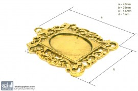 Pendant Tray27 Gold