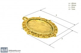 Pendant Tray33 Gold