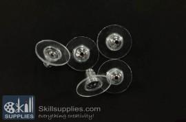 Plastic nut  FS18 ,10 pcs silver