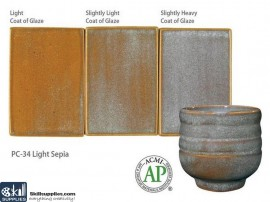 Pottery High Fire Glaze PC-34 Light Sepia images