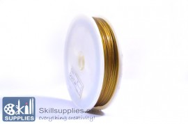Tiger tail 0.45mm gold, 5 mts
