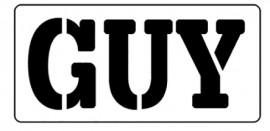 Words Stencil - Guy