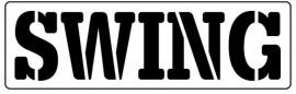 Words Stencil - Swing