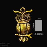 Antique gold finish Owl 2
