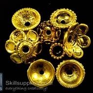 Bead caps gold