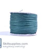 Cotton cord 0.5mm Dark green ,10 mts