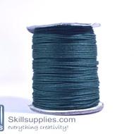 Cotton cord 1mm DarkGreen, 10 mts