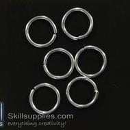 Jump rings 10mm  EN4 ,20 gms  silver