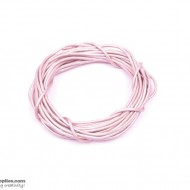 Leather Cord MetallicLavenderBlush