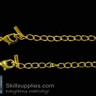 Lobster chain 1 EN13 ,4 pcs   gold