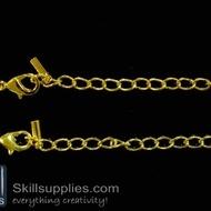 Lobster chain 1 EN13 ,4 pcs   gold