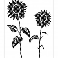 Nature Stencil Sunflower NA009