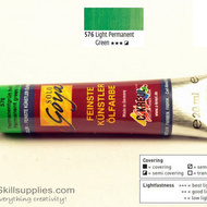 OilColour Light PermanentGreen 20ml