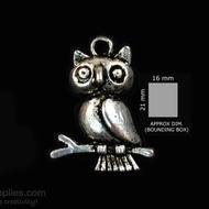 Silver Finish Owl