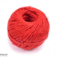 Jute Cord 50 m Red