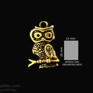 Antique gold finish Owl 1
