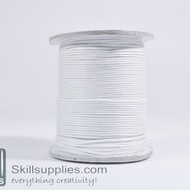 Cotton cord 1mm white, 10 mts